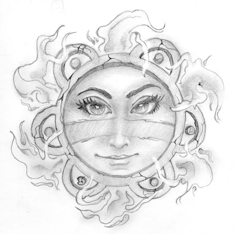 Taino Sun Symbol Tattoo