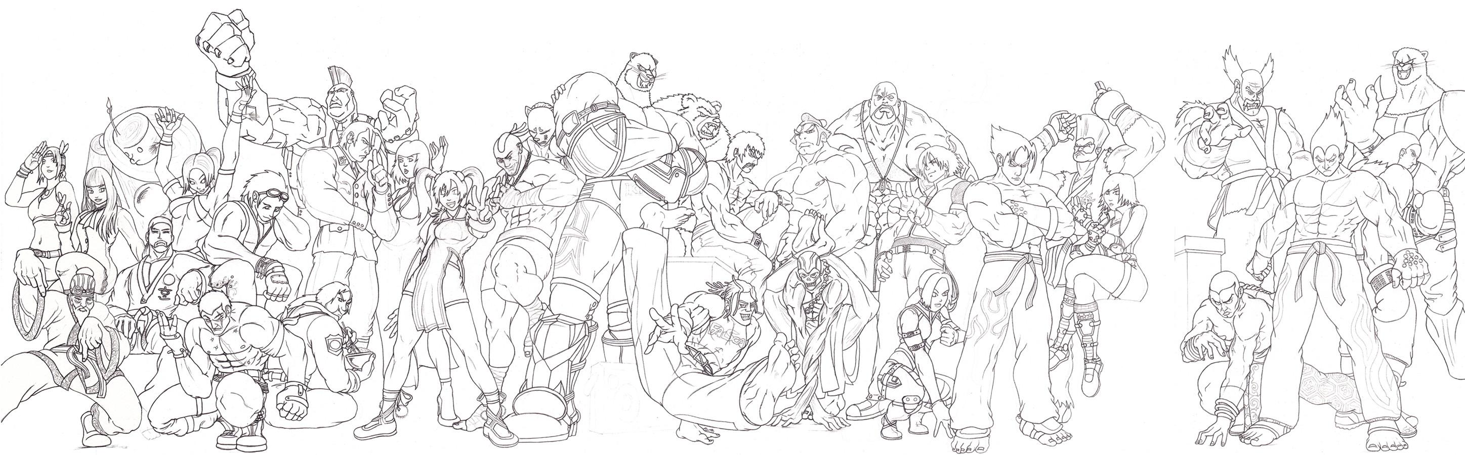 Fight Coloring Page
