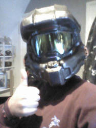 Halo Spartan helmet Build part 3