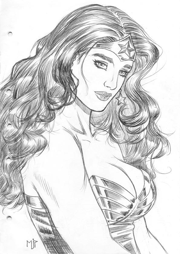 Wonder Woman Portrait by mikepacker