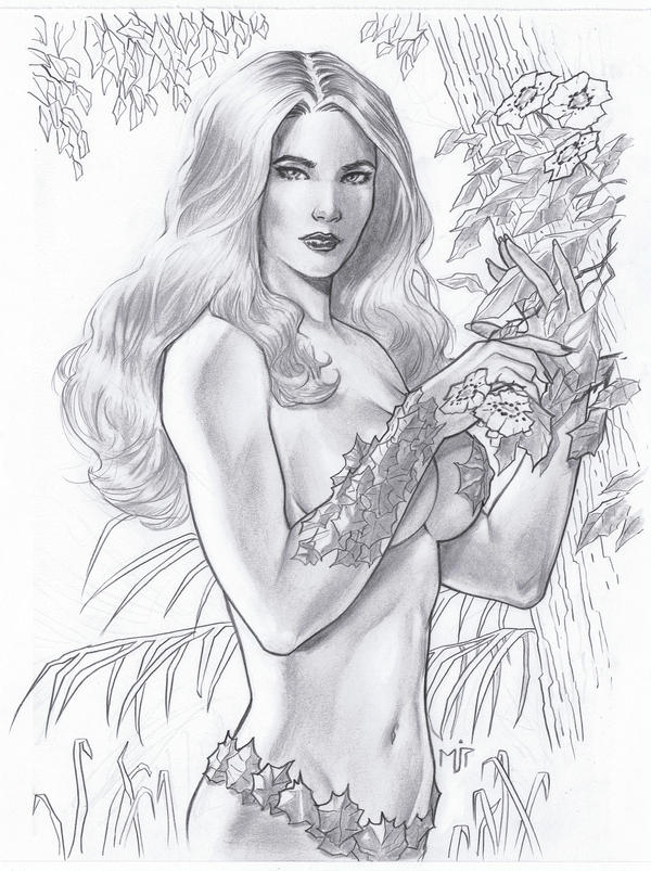 Poison Ivy Sketch by mikepacker