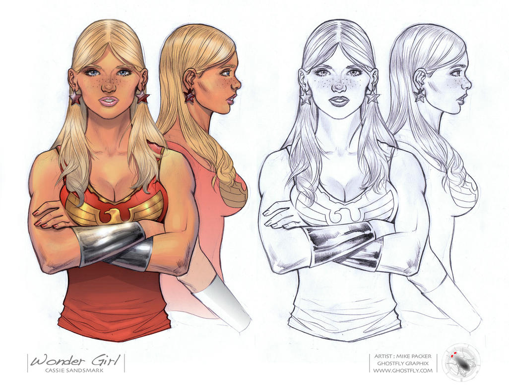 Wondergirl Working Drawing by mikepacker