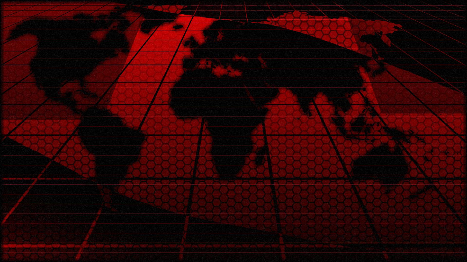 Digital World Map For Rainmeter Theme