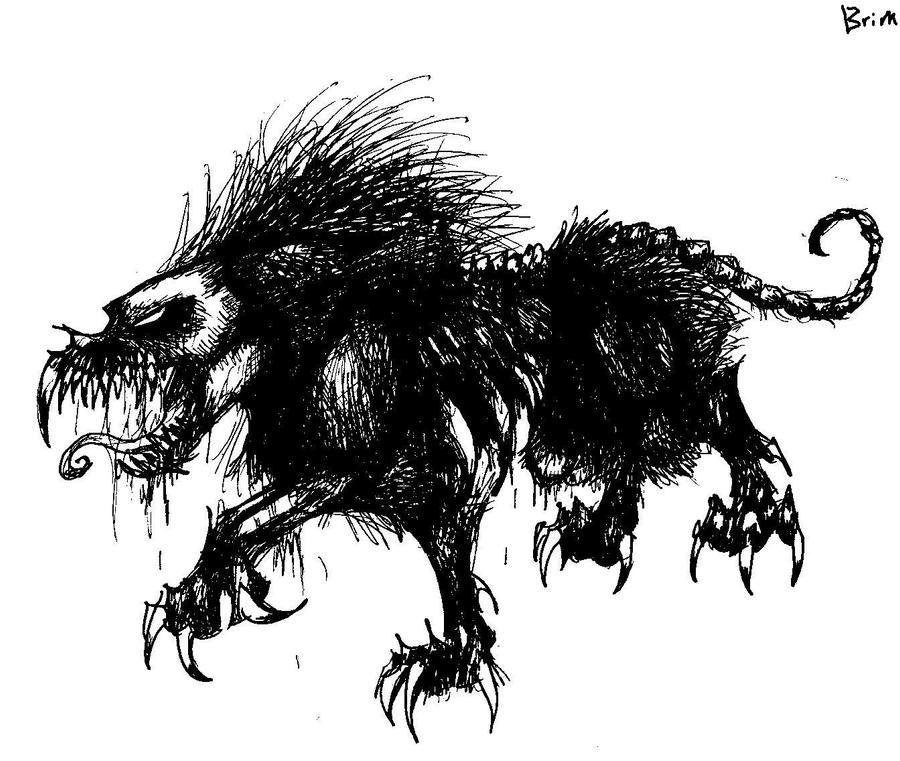 Zombie Wolf Drawing Wolf Zombie by Brimstone101Zombie Wolf Drawing