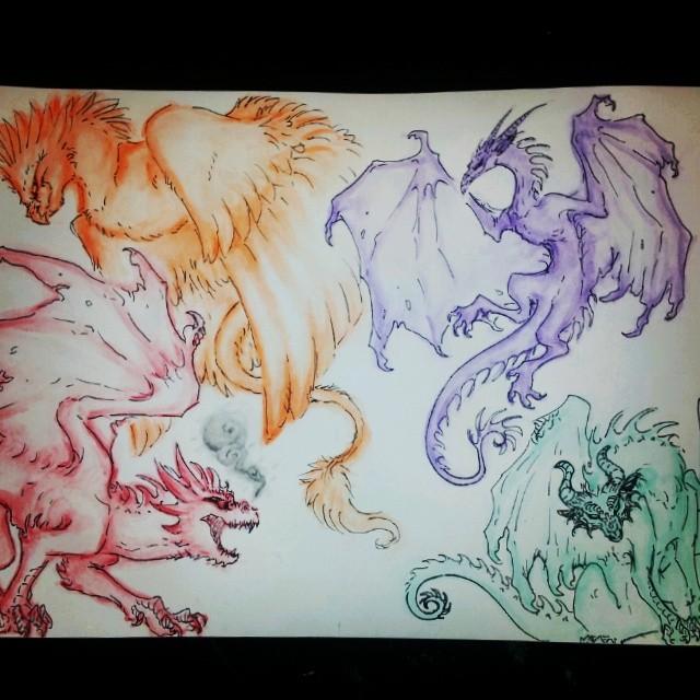 wata color dragons by brimstone101