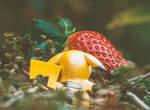 Pikachu Found A Strawberry!