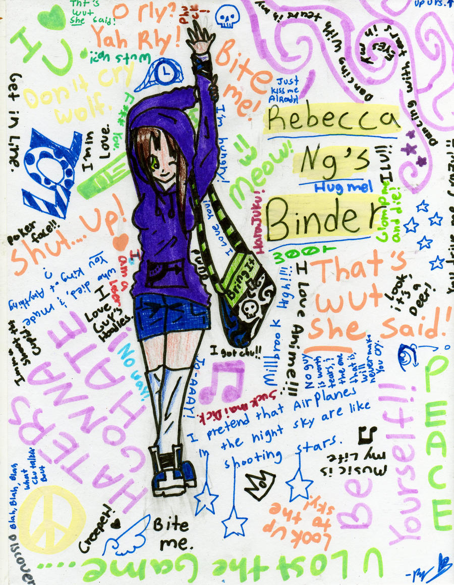 mai binder cover by glomp me and die on deviantart
