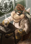 Hipster Bowser's Coffee Time