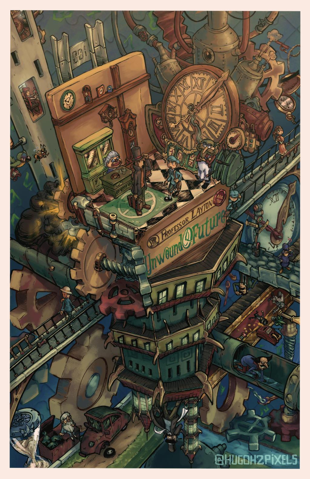 Isometric Nostalgia: Prof. Layton - Unwound Future