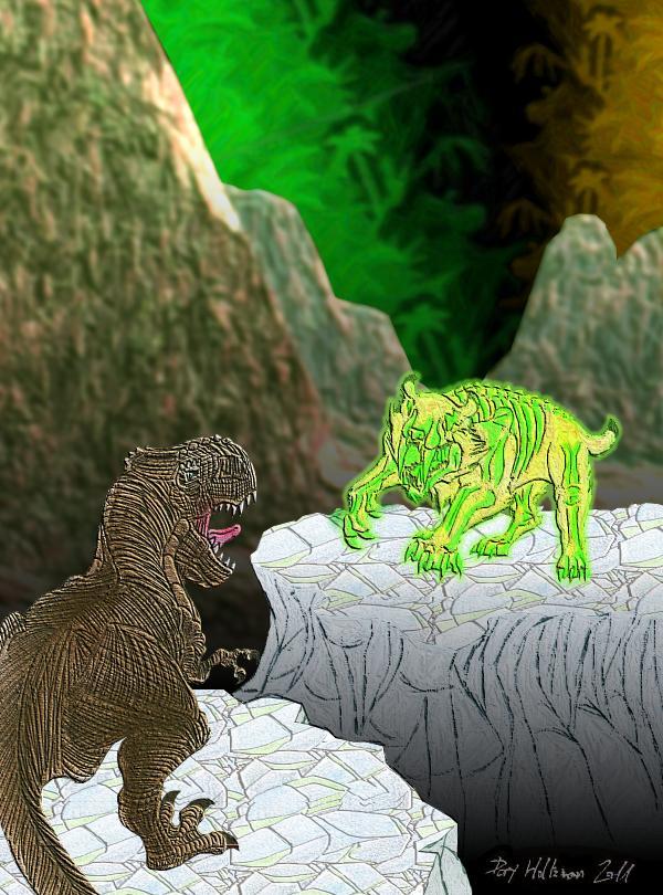 KotJ Concept Art - Smilodon Battle