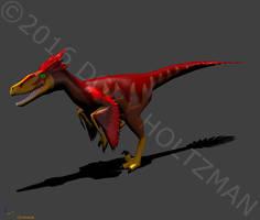 Cartoon Dakotaraptor Model