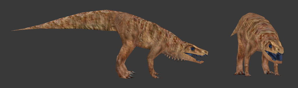Carnivores Triassic - Batrachotomus by Poharex