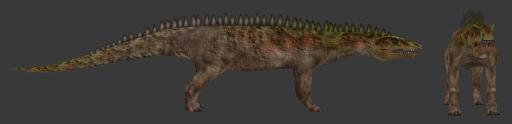 Carnivores Triassic - Ticinosuchus by Poharex