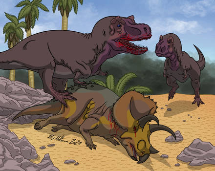 Burian T.rex and Triceratops 2021 Remake