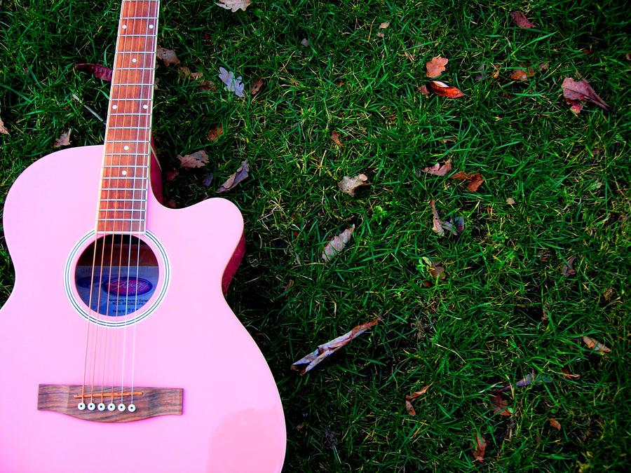 wallpaper music guitar pink - photo #12