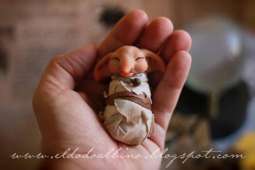 Baby house elf , ooak sculpt . SOLD