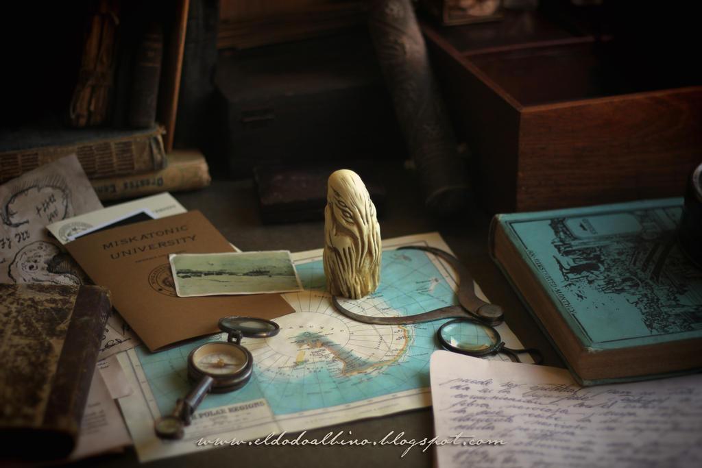 Cthulhu bone idol prop set by dodoalbino