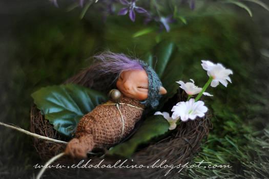 Fairy cocoon ooak art doll