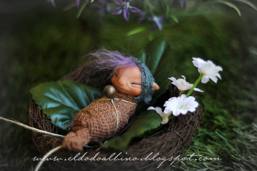 Fairy cocoon ooak art doll by dodoalbino