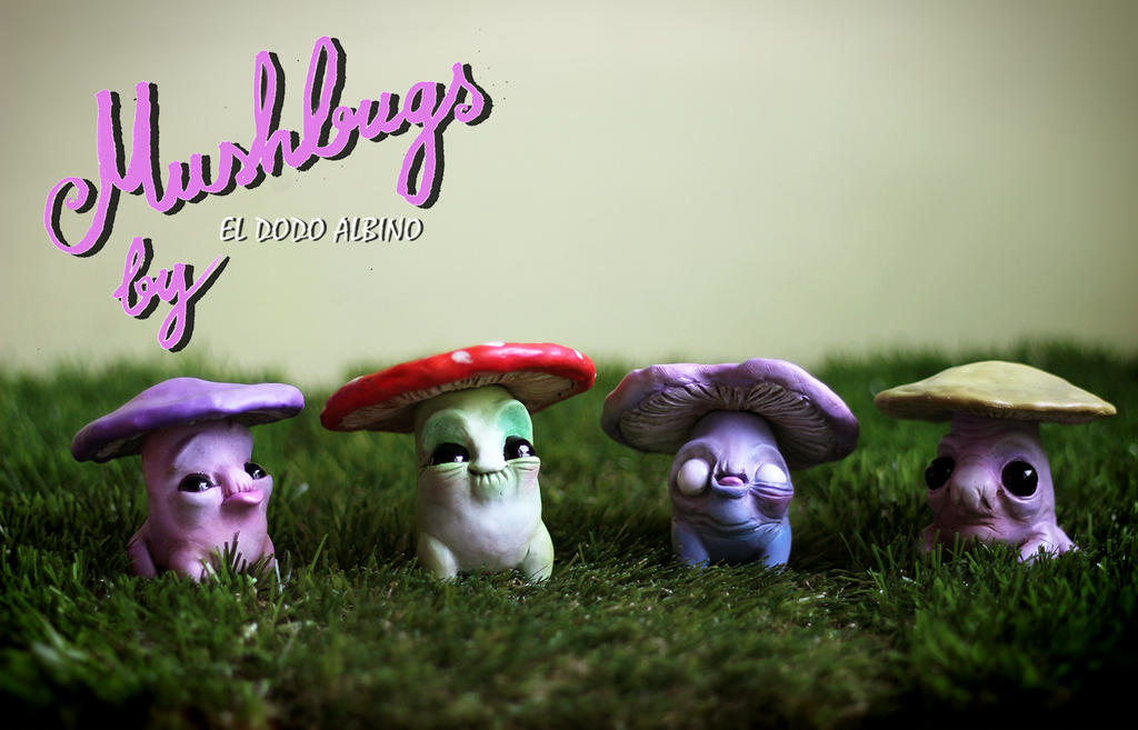 Mushbugs ooak polymer clay figures by dodoalbino