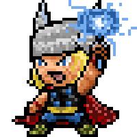 Pixel Thor by CrissaegrimDust
