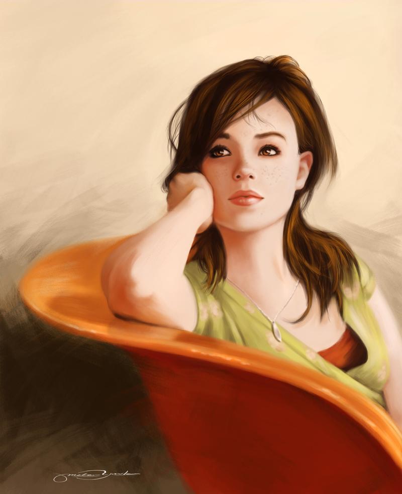 Ellen Page by melaniey