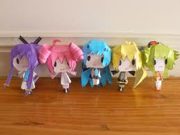 vocaloids, in paper form by taylorhuntergreen