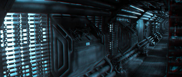 Alien Corridor Anaglyph 02