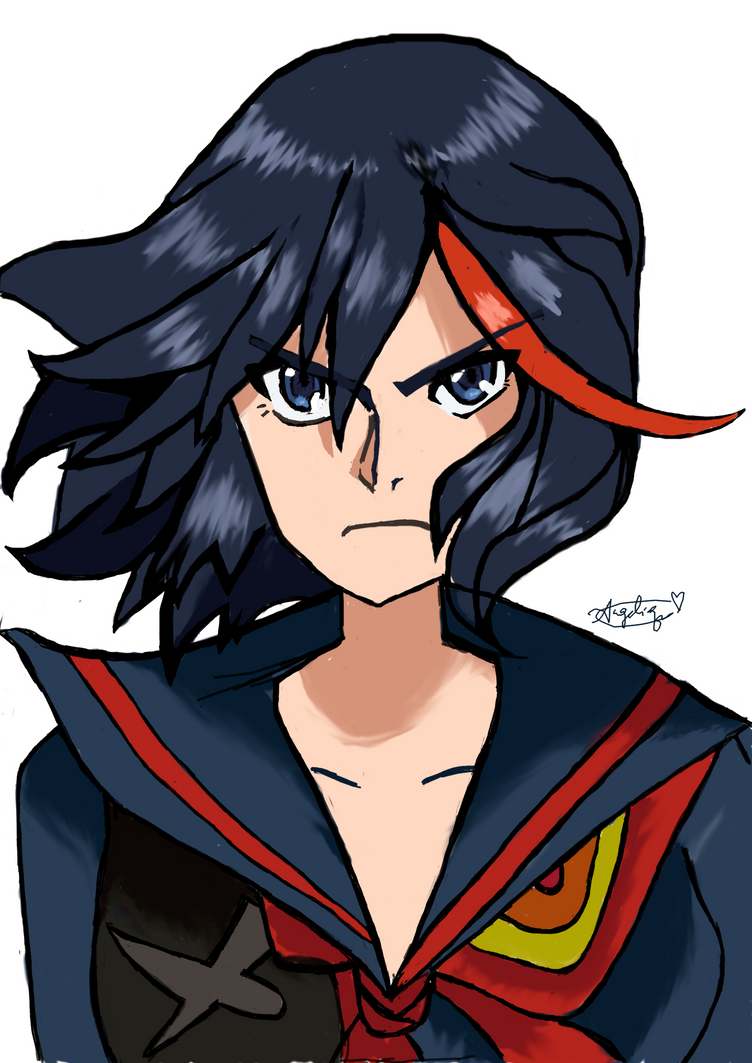 First attempt at digital art: Matoi Ryuko by CutieMcButt
