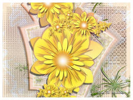 <b>Yellow Flowers For You</b><br><i>lady-AquaLena</i>