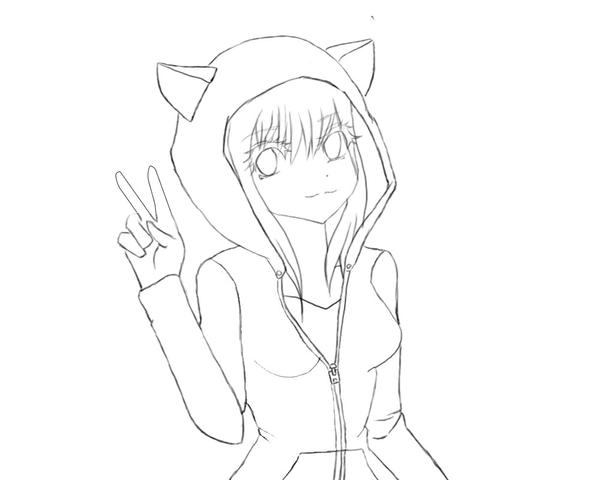 Cat Hooded Girl Lineart 384309381 moreover Tutorial How I Draw FT Head And Eyes 495432076 besides Easy Anime Cat Drawings Draw Manga Cat Girl Neko Youtube furthermore Dragon Ball Super Ending 9 Goku 690153266 in addition Post anime Girl Outline Coloring Pages Easy 29781. on easy to draw neko