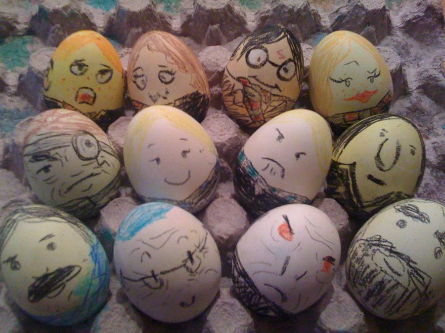 Harry Potter Book Easter Eggs : Harry potter n the egg carton by ashsmashtrash on deviantart