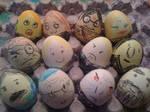 Harry Potter n the egg carton