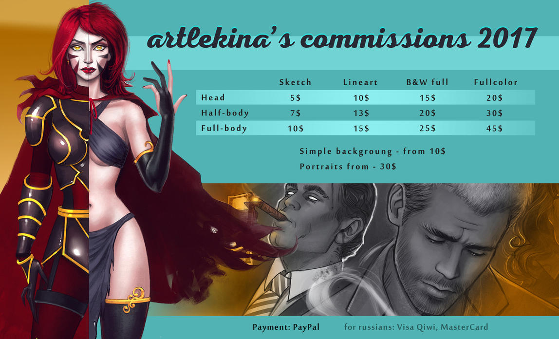 Commissions 2017 by artlekina