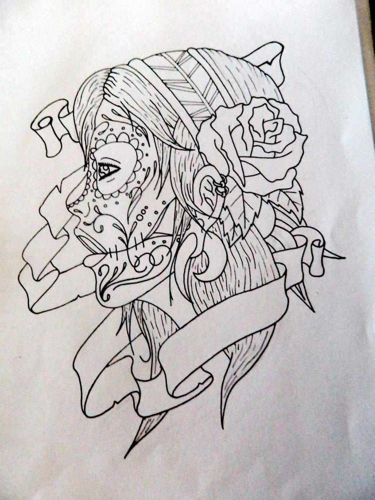 Mountains And Rivers 25 Cute Sugar Skull Girl Tattoo