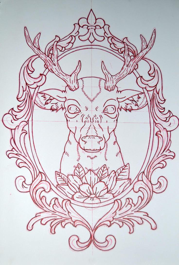 Deer Mirror Frame Avengedginge Deviantart
