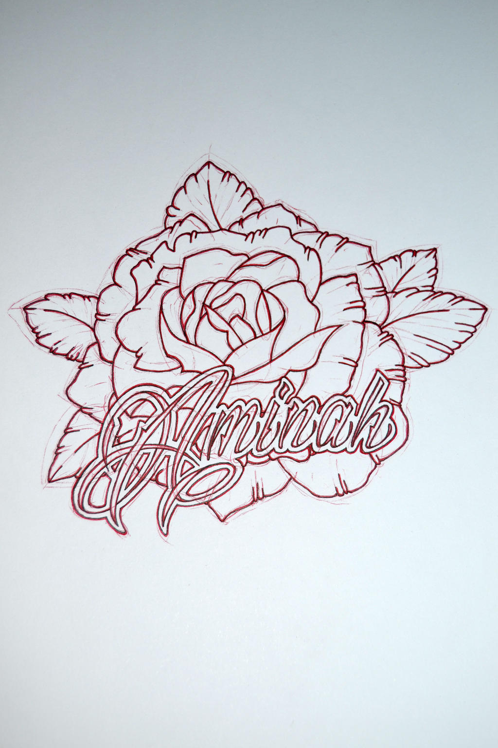 tattoo design with my unborn daughters name by avengedginge designs