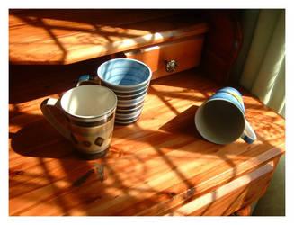3 Coffee Mugs by AnneriBurns