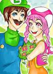 Art Trade: Luigi and Toadette