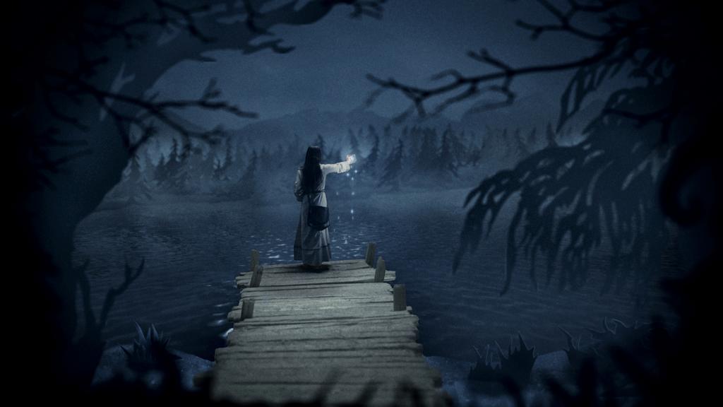 Wildpath's BURIED MOON music video still - Stars by pippa-hynelin