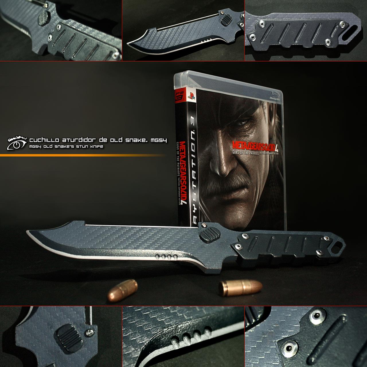 Metal Gear Solid 4: Old Snake's Stun Knife by RazielGardel