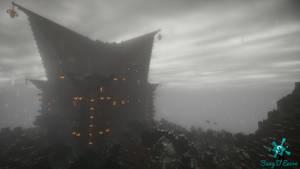 Manor under the rain