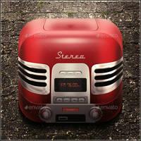 Radio icon by mysweetmaya