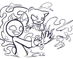 Doodle sketch by Mokca