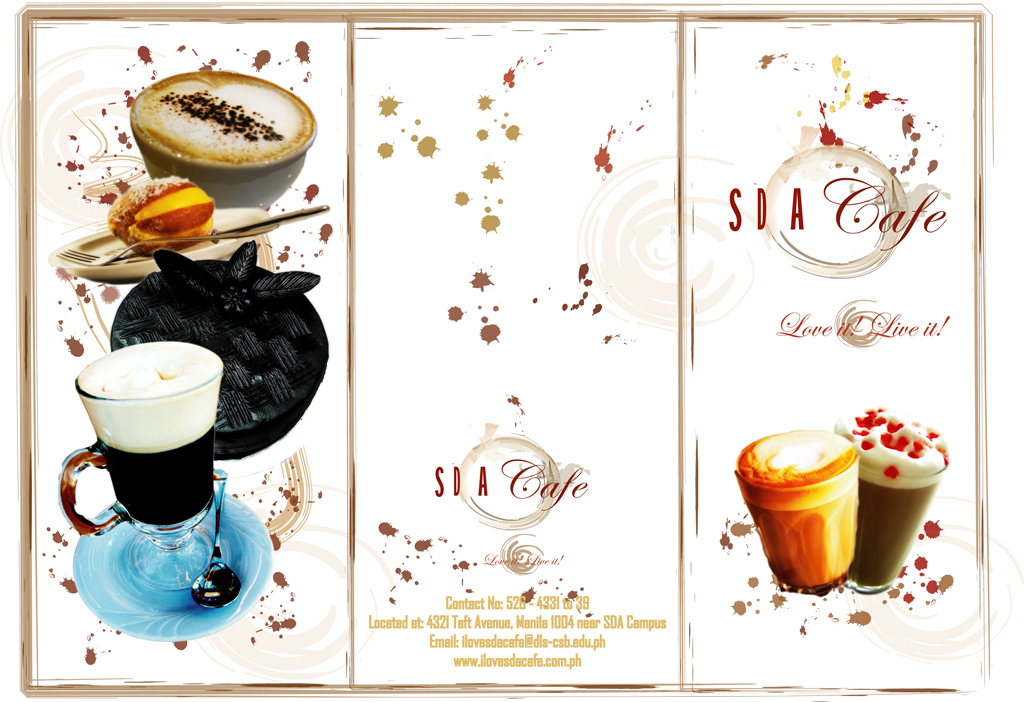 SDA Cafe Brochure out by monggiton