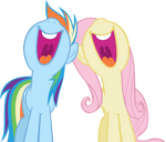 Rainbow Dash and Fluttershy