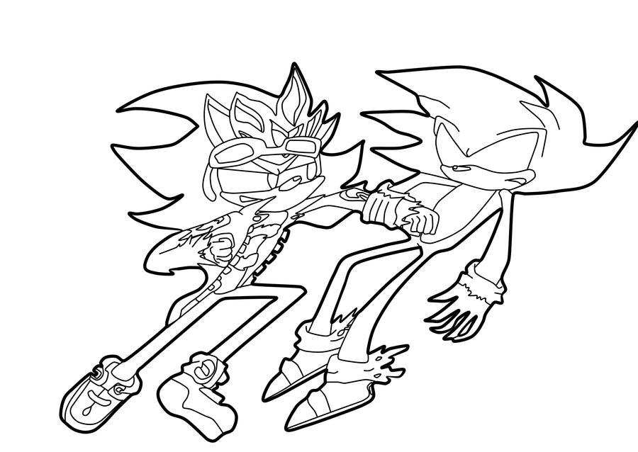 .:Lineart:. Dark Sonic vs Super Scourge by ...