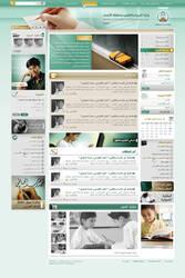 Saudi education ministry site by bluelioneye