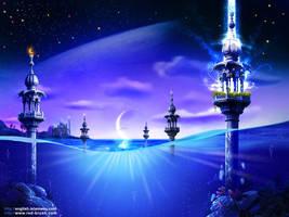 islamic panorama by bluelioneye