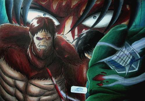 Levi vs Beast Titan